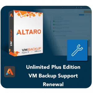 Altaro VM Backup Unlimted Plus edition Support Renewal