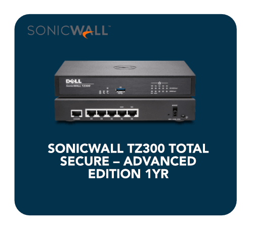 Sonicwall Tz300 Total Secure Advanced Edition 1yr 1