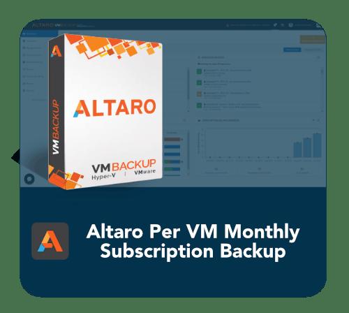 per VM backup | buy backup software per VM, Altaro Per VM Backup Subscription, pay per vm backup | Buy Altaro Per VM Backup