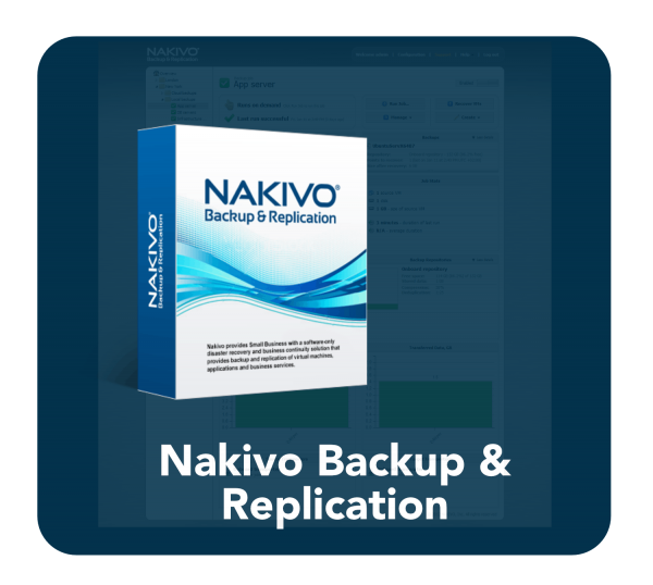 Nakivo Backup curved and tinted